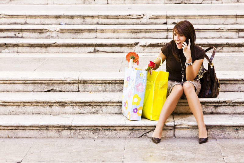 Download Woman after shopping stock photo. Image of buying, scene - 6761548