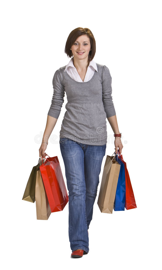 Download Woman shopping stock image. Image of girl, commerce, joyful - 7361025