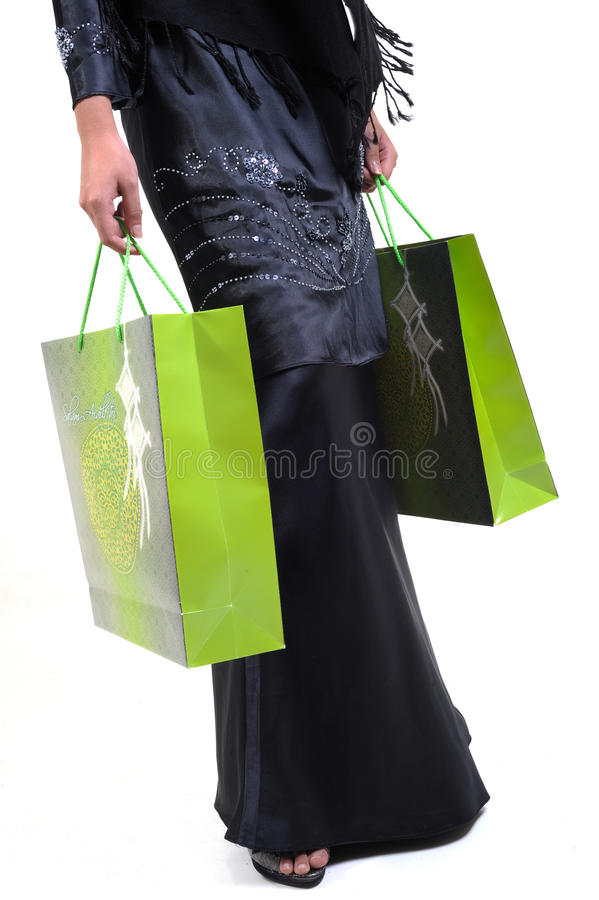 Download Woman and shopping bag stock image. Image of blank, female - 10839925