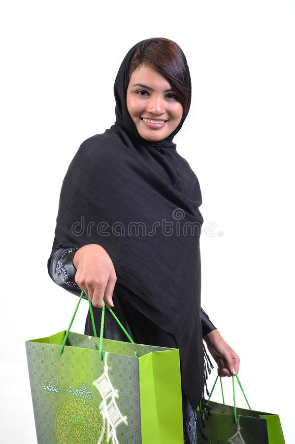 Download Woman and shopping bag stock photo. Image of consumer - 10839934