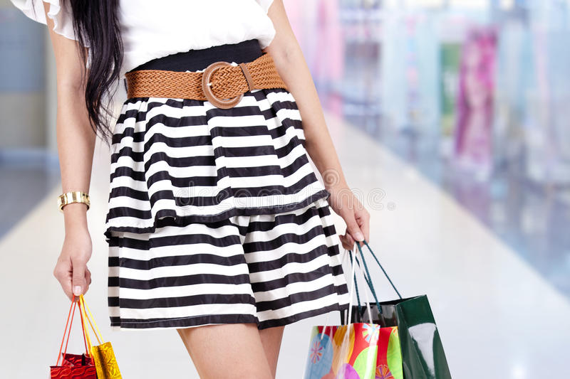 Download Woman with shopping bag stock photo. Image of fashion - 24690310