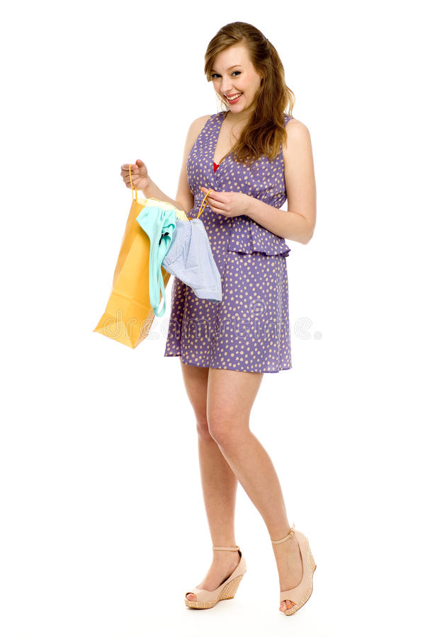Download Woman with shopping bag stock photo. Image of shot, background - 24802886