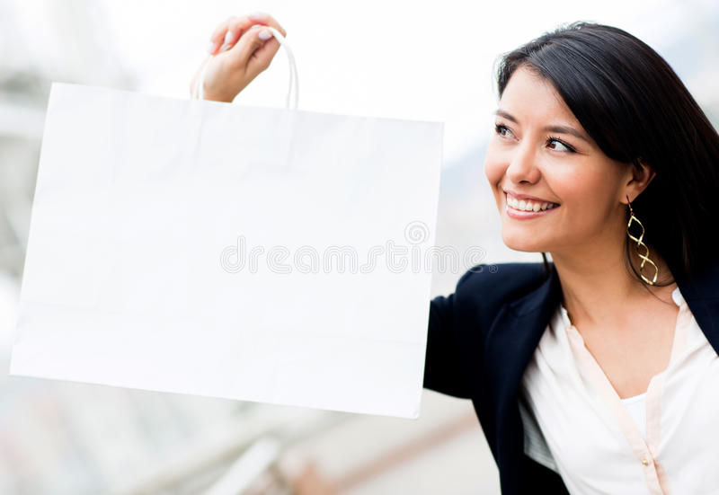 Download Woman with shopping bag stock photo. Image of hispanic - 25188756