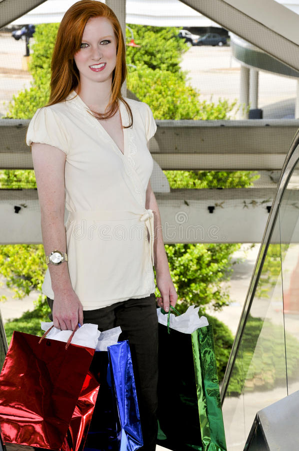 Download Woman Shopping Bags stock photo. Image of cheerful, beauty - 14334552
