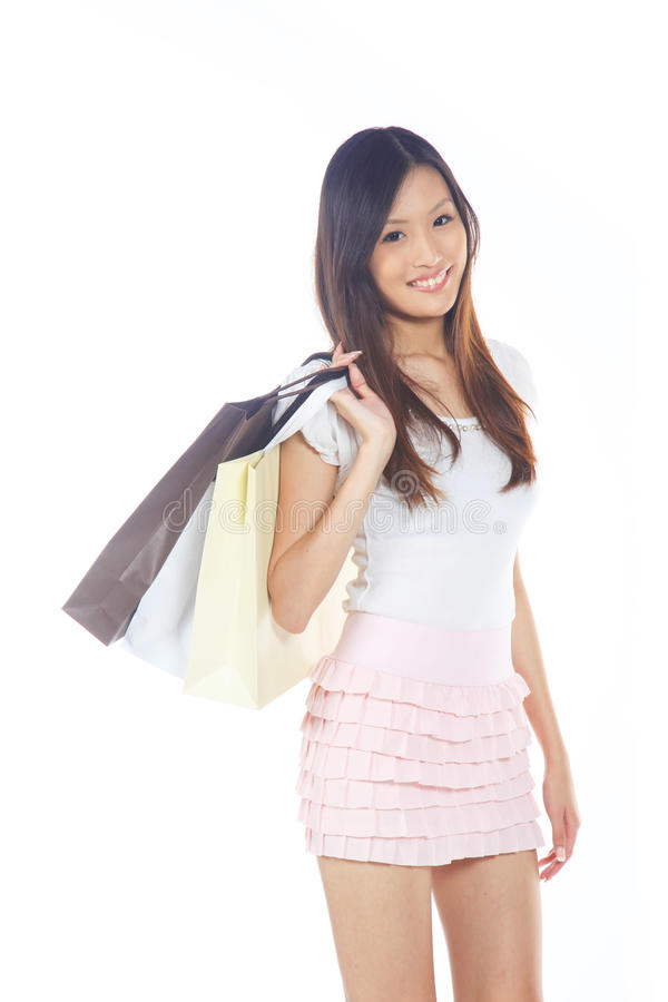 Download Woman with Shopping Bags stock photo. Image of pretty - 20713560