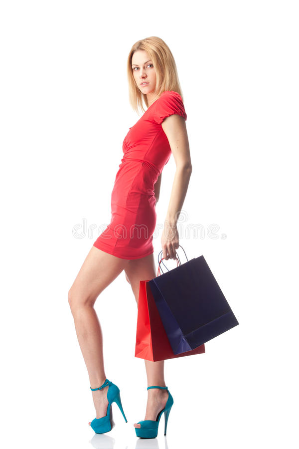Download Woman with shopping bags stock image. Image of lifestyles - 23298761