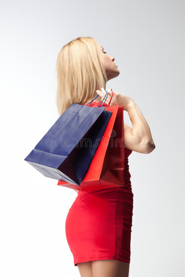 Download Woman with shopping bags stock photo. Image of beautiful - 23298782