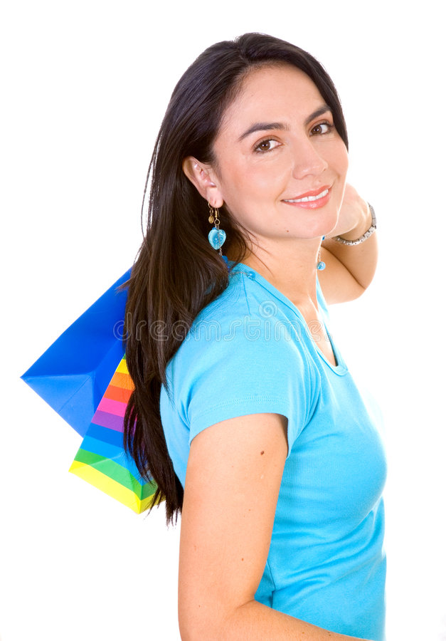 Download Woman with shopping bags stock image. Image of shop, isolated - 2578519