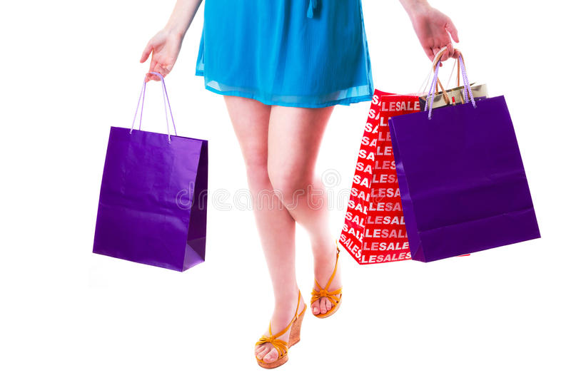 Download Woman with shopping bags stock photo. Image of glamour - 29346718