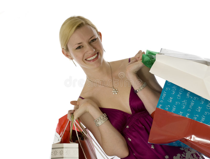 Download Woman with shopping bags stock photo. Image of smiles - 6672856
