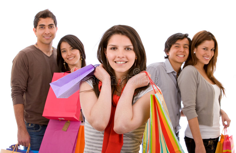 Download Woman with shopping bags stock photo. Image of bags, person - 7936134