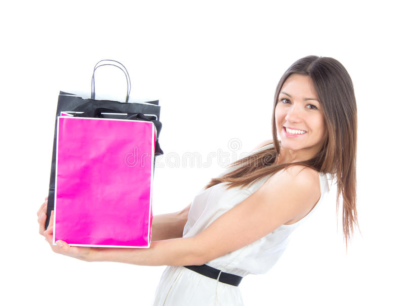 Download Woman With Shopping Bags Buying Presents Royalty Free Stock Photos - Image: 23906328