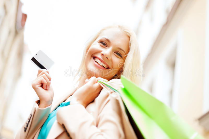 Download Woman With Shopping Bags In Ctiy Stock Photo - Image: 33079080