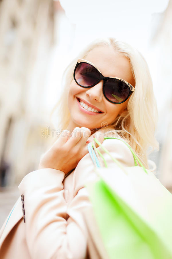 Download Woman With Shopping Bags In Ctiy Stock Photo - Image: 33079070