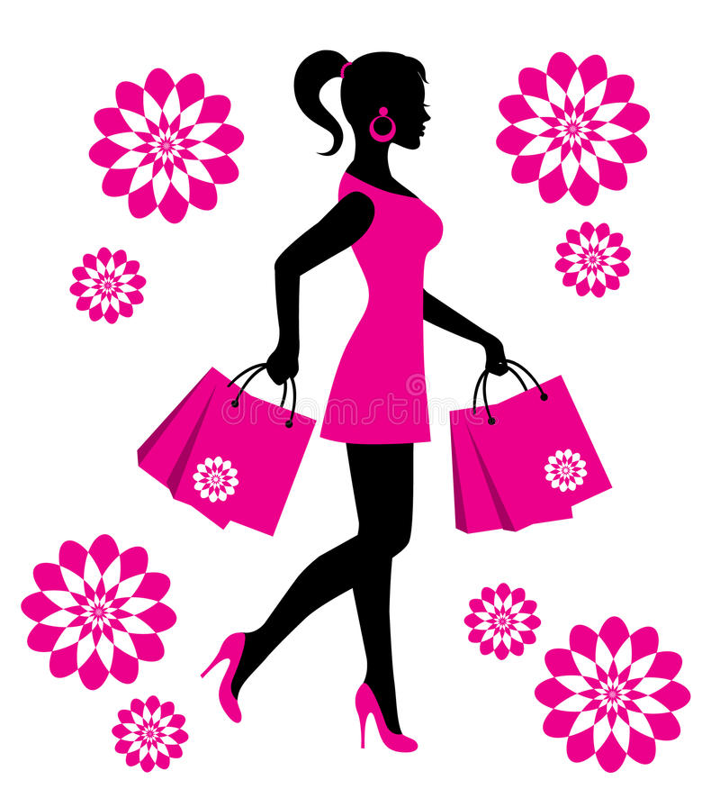 shopping frau