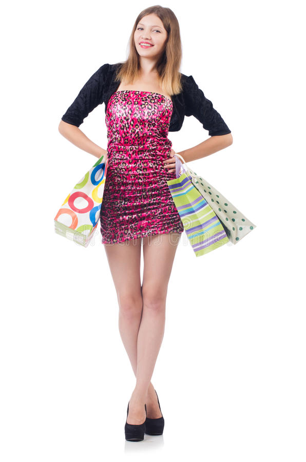 Download Woman with shopping bags stock photo. Image of purchase - 36988916
