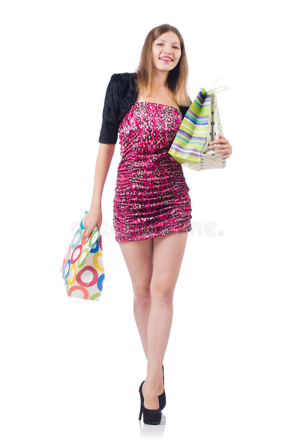 Download Woman with shopping bags stock photo. Image of gift, lifestyle - 36988952