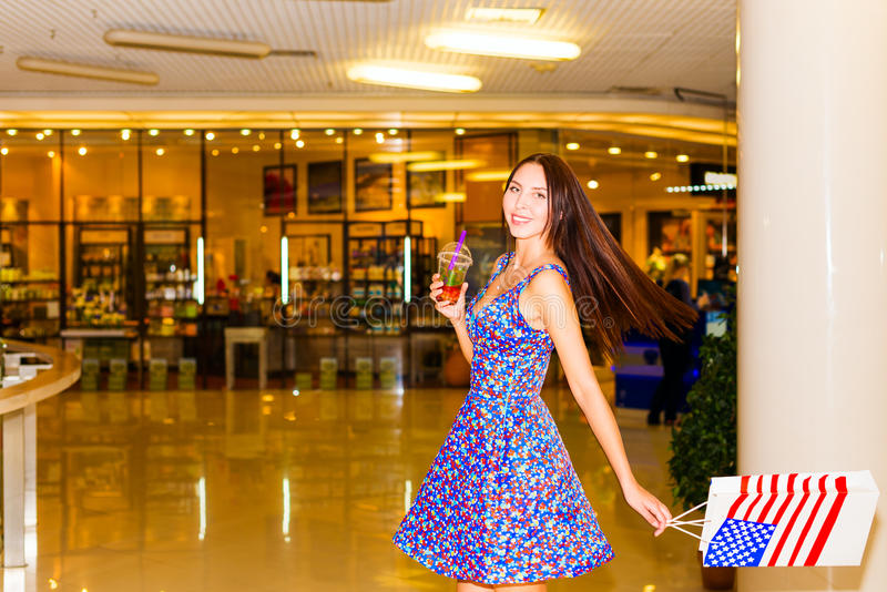 Download Woman in shopping center stock photo. Image of gifts - 32269024