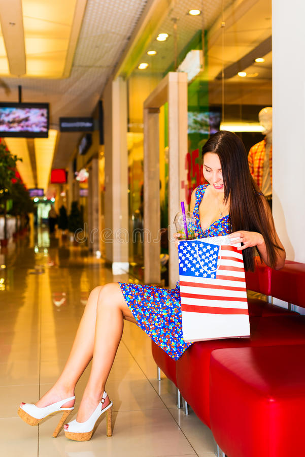 Download Woman in shopping center stock image. Image of lifestyle - 32269029