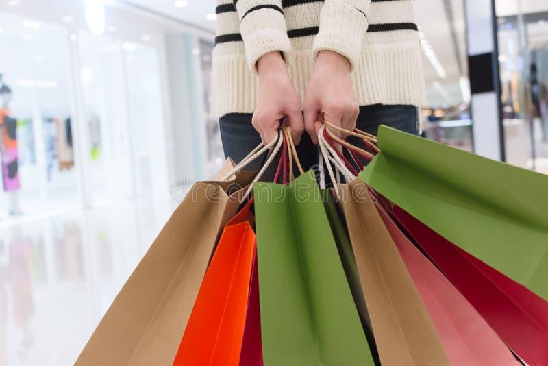 Woman shopping royalty free stock photo