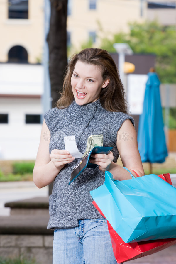 Woman Shopping Spending Limit stock photos