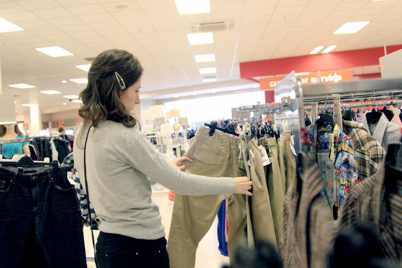 Download Woman Shopping In Store Stock Photo - Image: 26313270