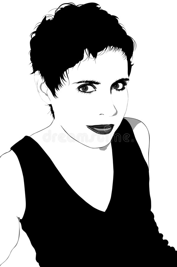 Download Woman With Short Hair: Vector Stock Vector - Image: 5933831