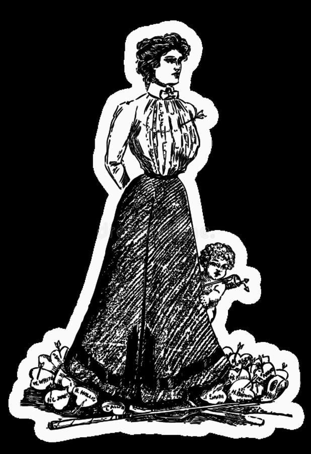 Woman Shot By Cupid Free Public Domain Cc0 Image