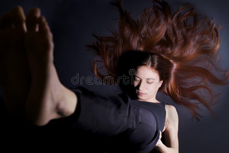 Download Woman In Shoulder Stand Yoga Posture (Sarvangasana Stock Image - Image: 13123287