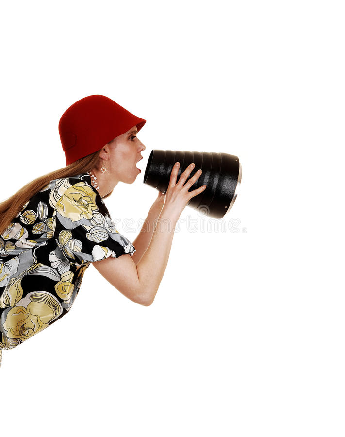 Download Woman shouting. stock image. Image of expression, emotion - 24057365