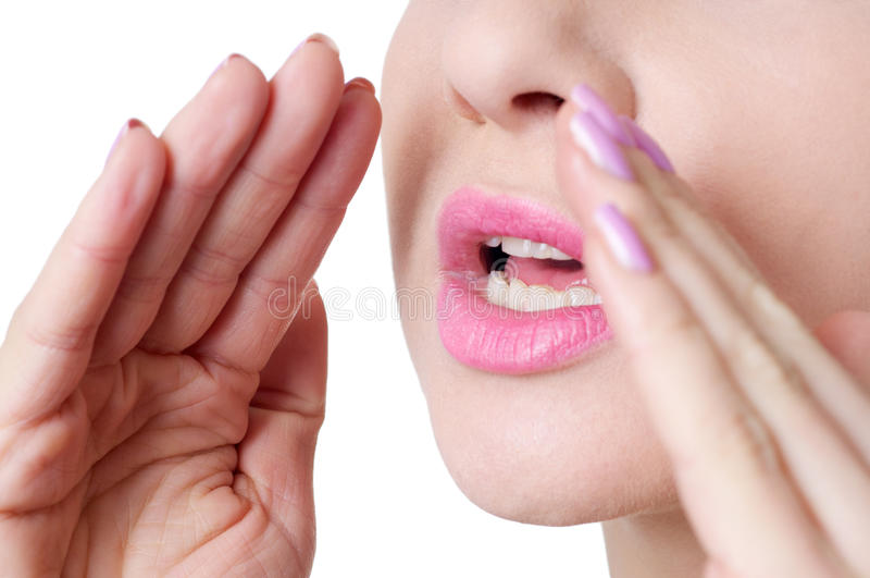 Woman shouting close up royalty free stock images