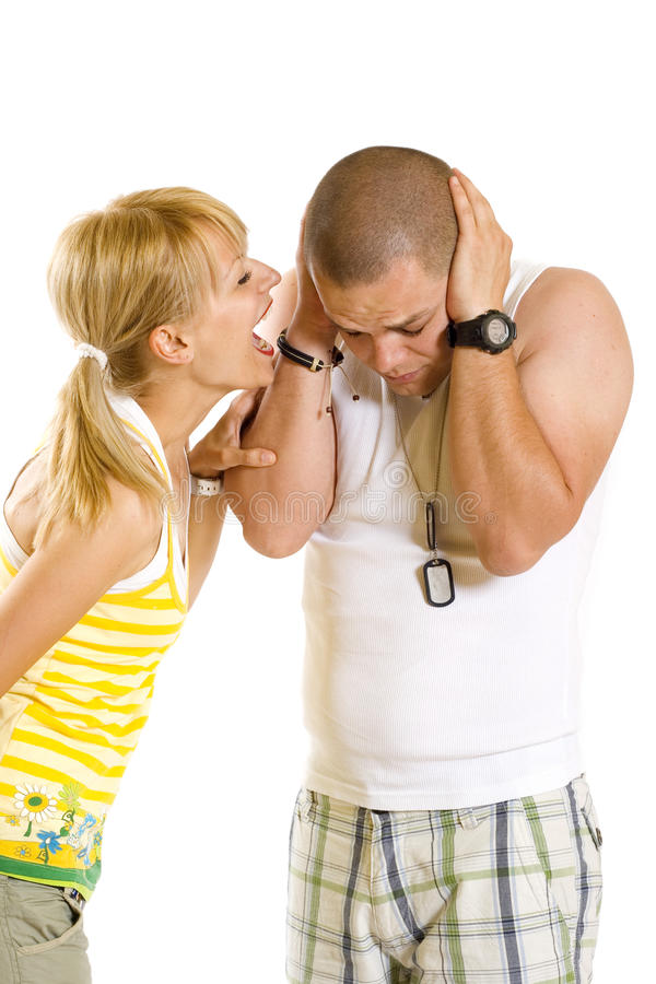 Download Woman Shouting And Screaming At Her Boyfriend Stock Photo - Image: 13372382