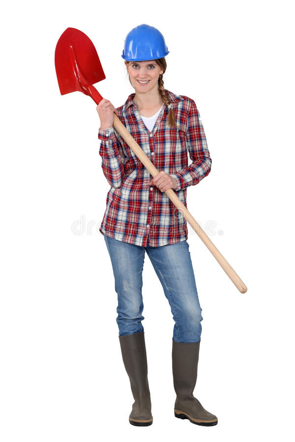 Download Woman With Shovel Stock Photos - Image: 27812133