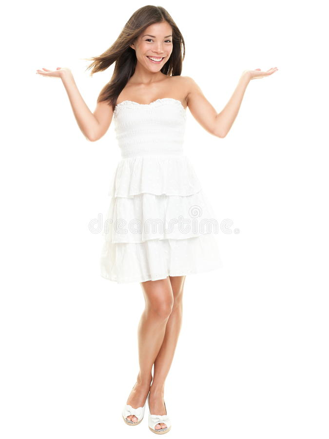 Woman showing royalty free stock photos