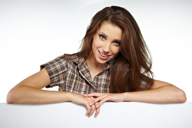 Download Woman Showing Blank Signboard Stock Photography - Image: 25681462