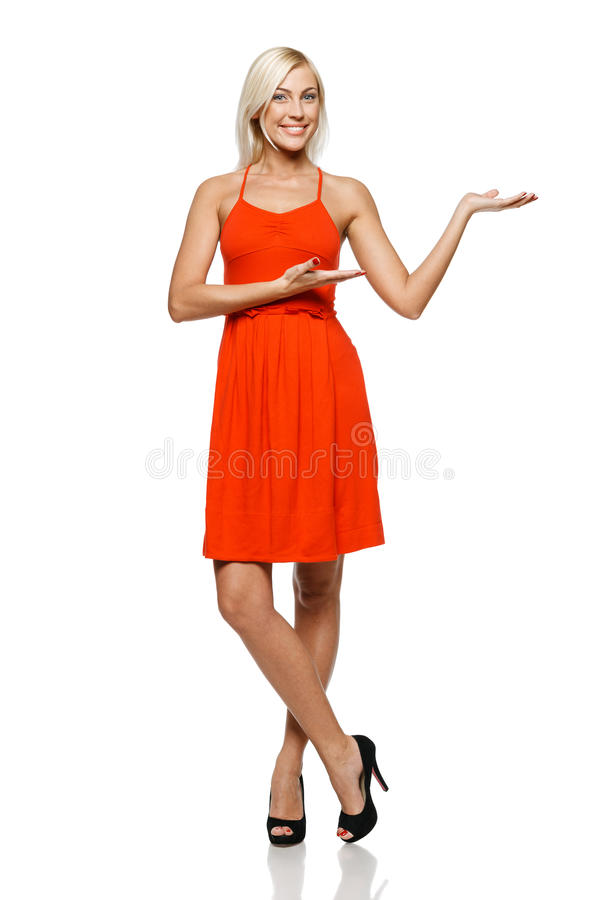 Download Woman showing copy space stock image. Image of cheerful - 26609209