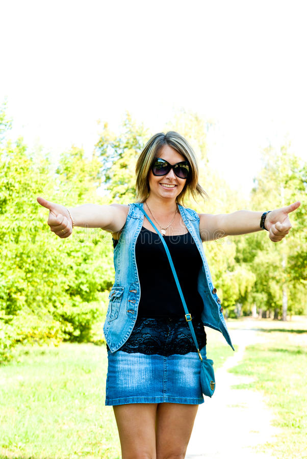Download Woman showing thumbs up stock image. Image of adult, good - 26183617