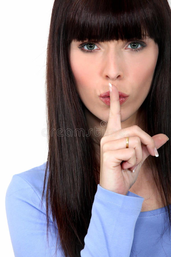 Free Woman Shushing Royalty Free Stock Image - 29296906
