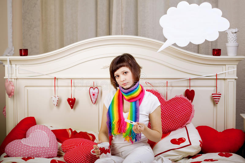Download Woman is sick stock image. Image of illness, expression - 25452089