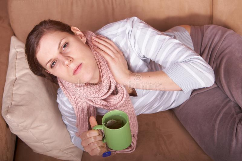 Woman Sick At Home Free Stock Photos