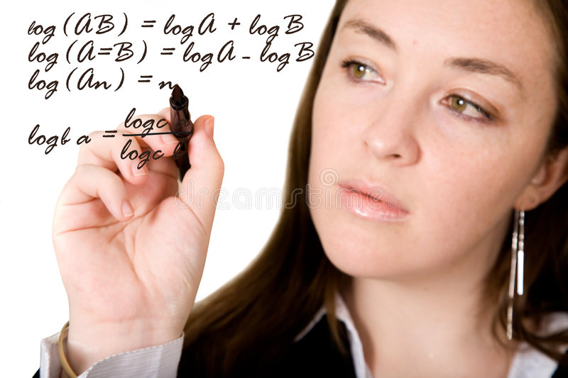 Download Woman Signing On The Screen Stock Photo - Image: 2648476