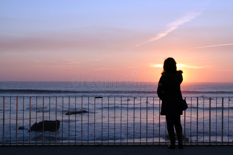 Download Woman silhouette stock image. Image of golden, outdoor - 2324881