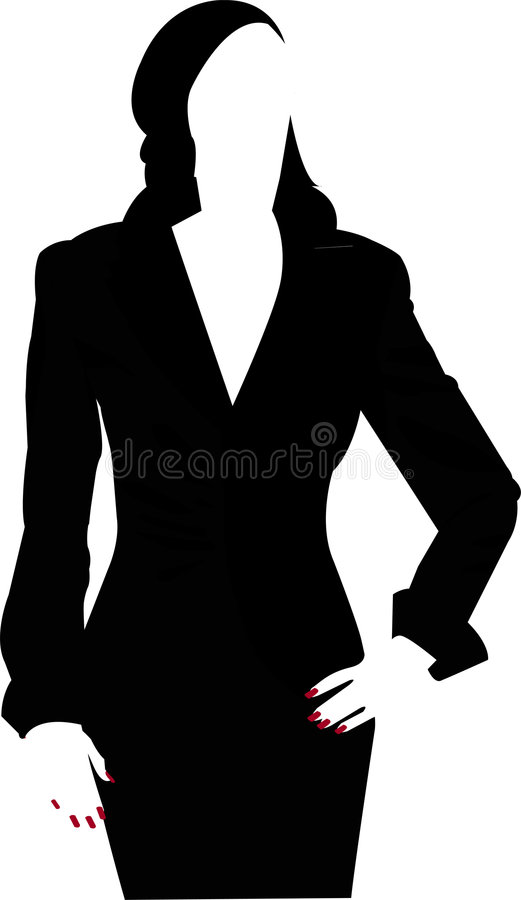 Woman silhouette stock illustration
