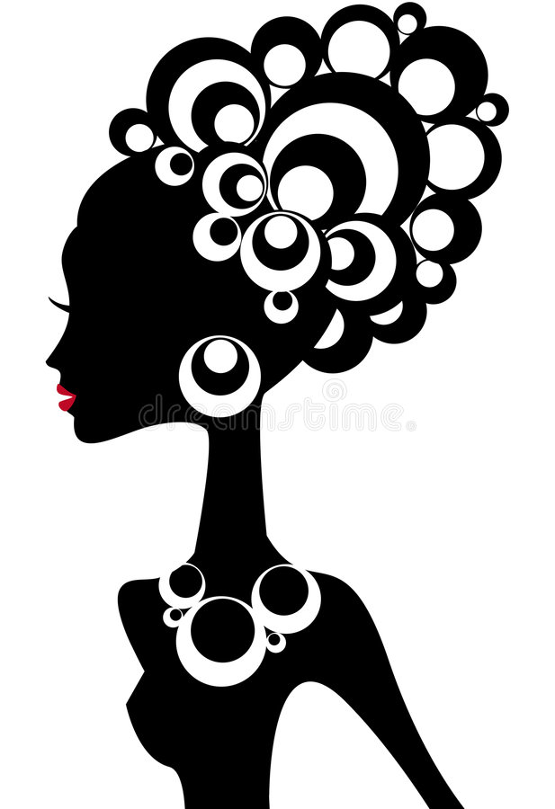 Download Woman silhouette stock vector. Image of breast, jewellery - 6588004