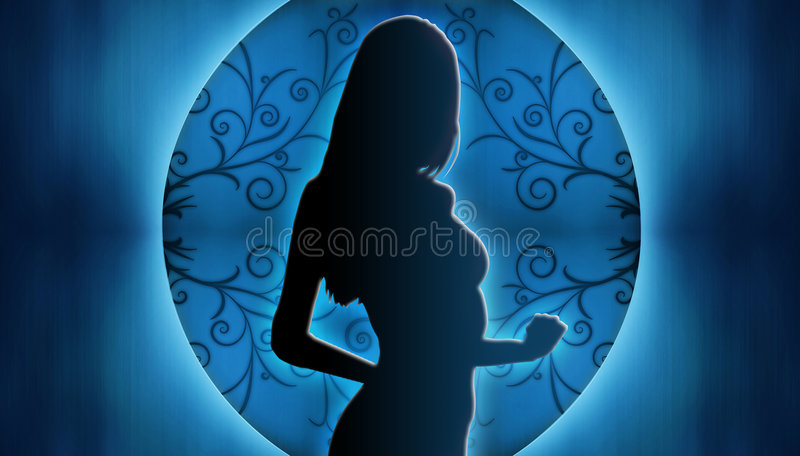 Download Woman Silhouette stock illustration. Illustration of long - 7495184