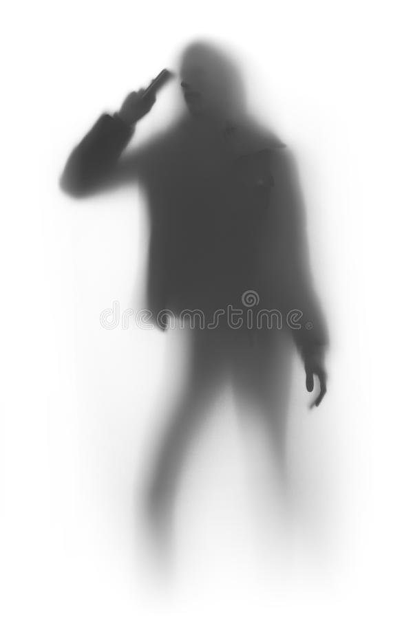 Free Woman Silhouette With Cellular Phone Stock Images - 17686344