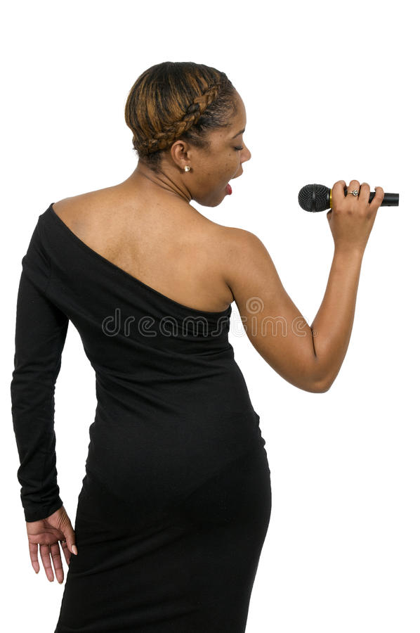 Woman Singer stock photography
