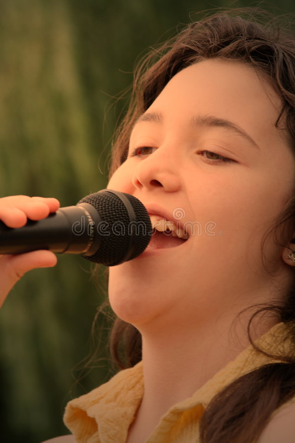 woman singing royalty free stock photography