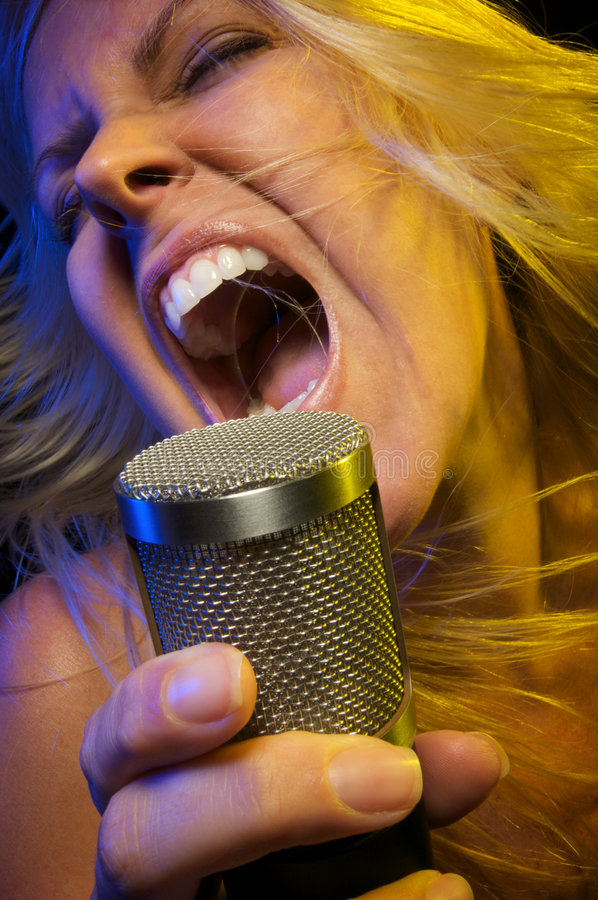 Download Woman Sings With Passion Stock Image - Image: 5605111