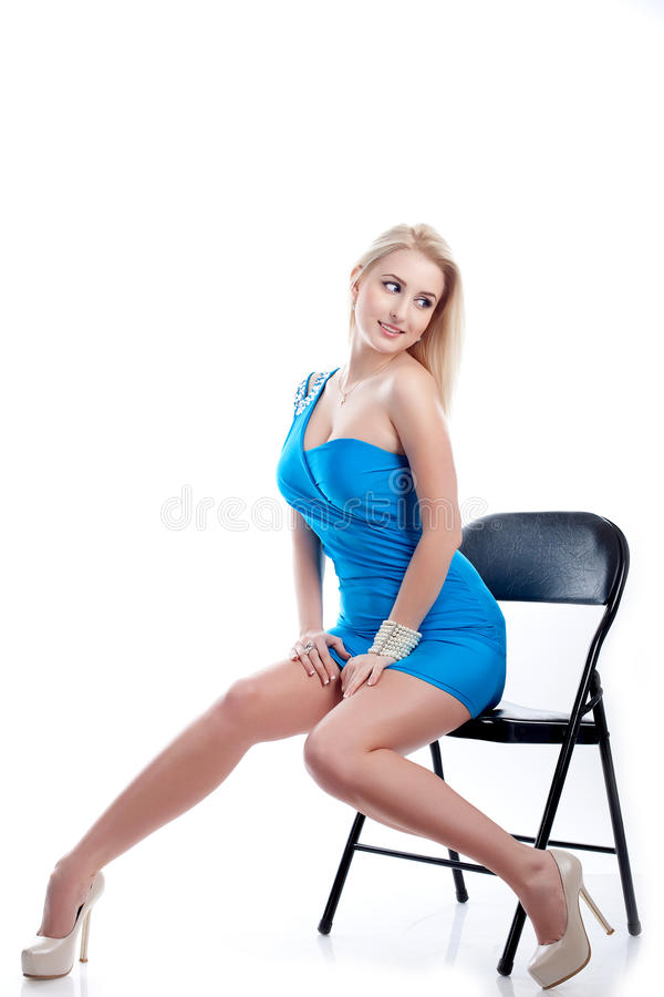 Download Woman sit on a chair stock image. Image of clothing, adult - 24148521